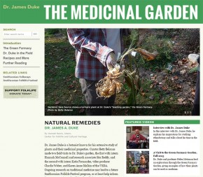 Screenshot of The Medicinal Garden online exhibition.