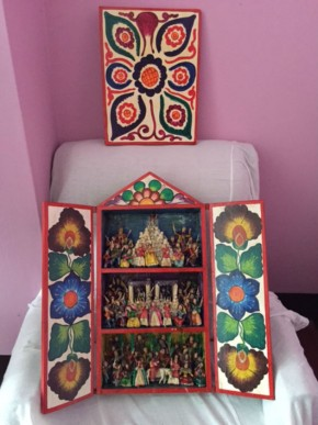 A handcrafted retablo from Alfredo Lopez Morales's collection. Photo by Jackie Flanagan Pangelinan, Ralph Rinzler Folklife Archives