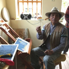 Ángel Callañaupa in his Chinchero studio. Photo by Jackie Flanagan Pangelinan, Ralph Rinzler Folklife Archives