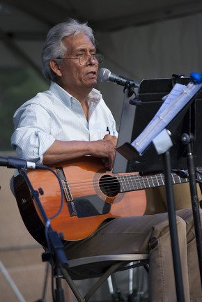 The Ralph Rinzler Memorial Concert began with Agustín Lira from Fresno, California, sharing a bit of the state's Latino culture. Photo by JB Weilepp, Ralph Rinzler Folklife Archives