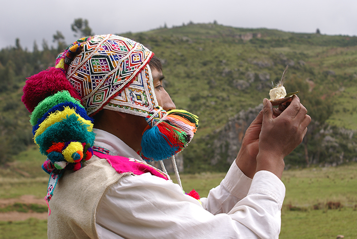 Ritual offering to the Pachamama. Photo by Roger Valencia