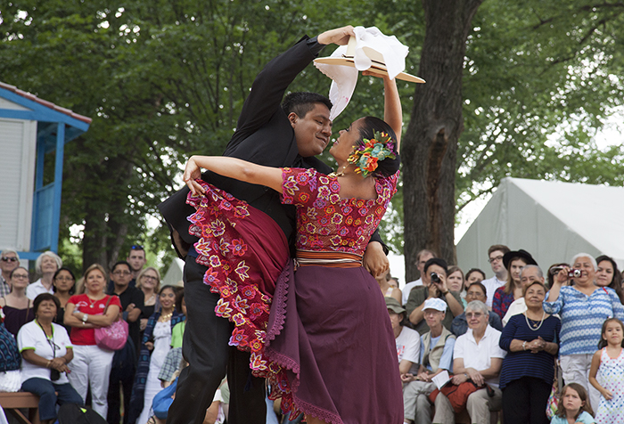 Marinera dancers perform on La Plaza at the 2015 Festival. Photo by Brian Barger, Ralph Rinzler Folklife Archives
