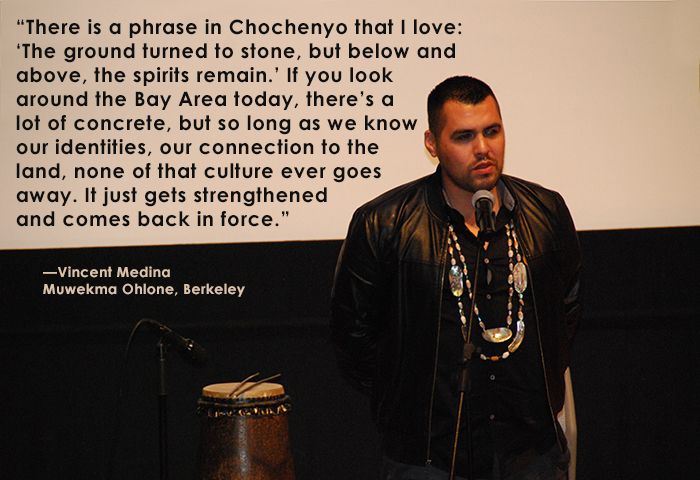 Vincent Medina of the Muwekma Ohlone tribe in Berkeley