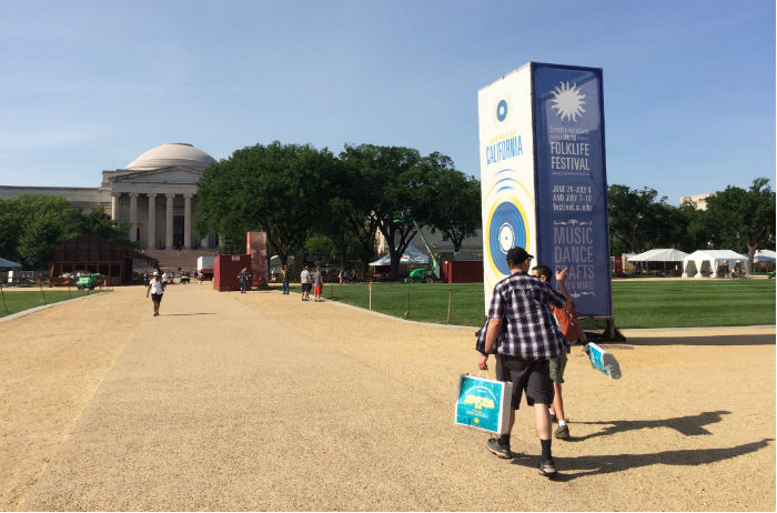 The Festival grounds are between Fourth and Seventh streets on the National Mall. Photo by Kyle Baker