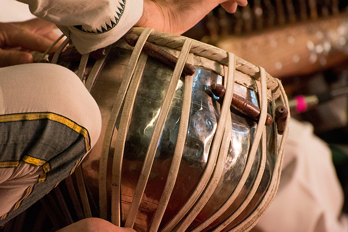 Salar Nader is a master of the tablas. He, along with rubâb player Homayoun Sakhi, performed in the opening ceremony and again in the afternoon at the Sounds of California Stage & Plaza. They will headline the evening concert on June 30, starting at 6:30 p.m. Photo by Ronald Villasante, Ralph Rinzler Folklife Archives