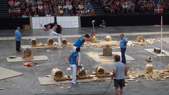 Photo of a wood chopping competition in Basque country. Photo by Christina Diaz-Carrera