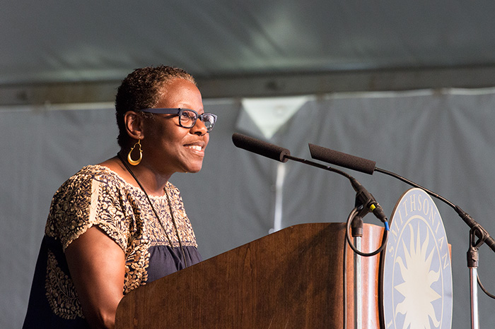 Sabrina Lynn Motley at the opening of the 2014 Folklife Festival. Photo by Rachel Winslow, Ralph Rinzler Folklife Archives