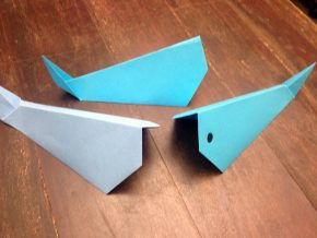 Whale origami. Photo by Sara Dufour