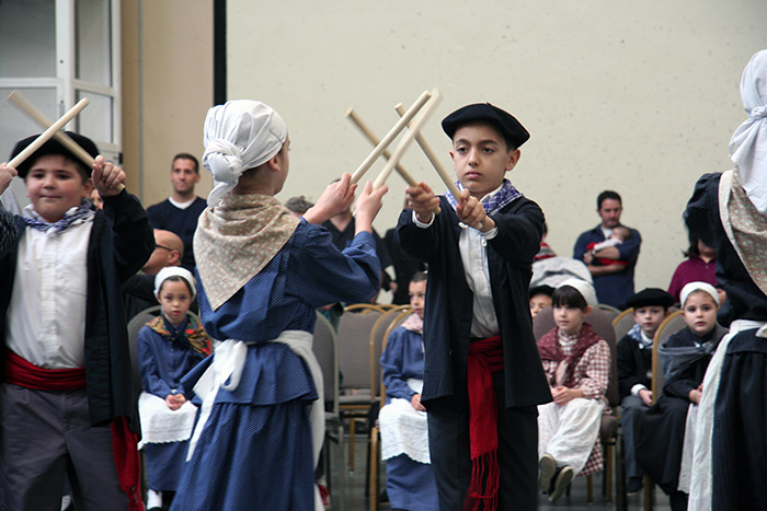 At the San Francisco Basque Cultural Center, members of Zazpiak Bat begin learning traditional dance at a very young age. Photo by Elisa Hough, Ralph Rinzler Folklife Archives
