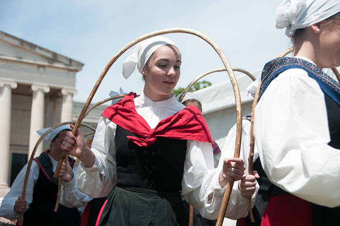 The Oinkari Basque Dancers make their return to the Folklife Festival. Photo by Joe Furgal, Ralph Rinzler Folklife Archives